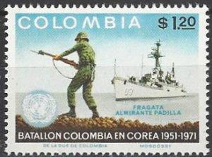 Colombia 804  MNH  Colombian Troops in Korea