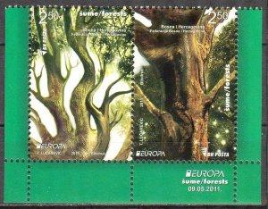 Bosnia 2011 Europa CEPT Forests Pair MNH