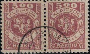 Memel 1923 SC N26 Pair