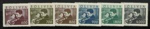 Bolivia SC# C217-C222, Mint Never Hinged, C221 tiny perf crease - S11300