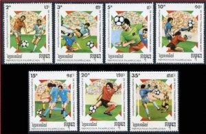 1989 Cambodia Kampuchea 999-1005 1990 World championship on football of Italien