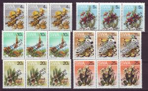 J19083 Jlstamps 1978 south west africa set mnh #423-8 plants ovpt,s