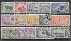 FALKLAND ISLANDS SG172/85 1952 DEFINITIVE SET MTD MINT