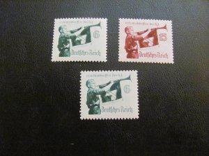 GERMANY 1935 MNH SC# 463-4+Y VALUE BUGLER SET $40 (113)