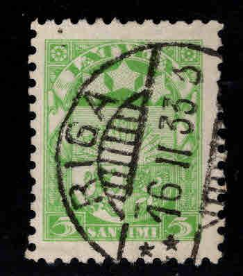 Latvia Scott 140 Used coat of arms stamp