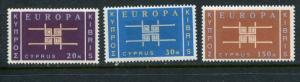 Cyprus #229-31 MNH 1963 Europa