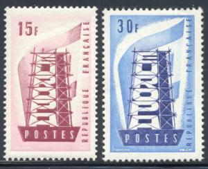 France Scott #805 and 806 (805-6), Mint, Two Stamp Complete Set, Europa Issue...