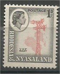 RHODESIA & NYASALAND, 1959, MNH 1p, V. H. F. Mast, Scott 159