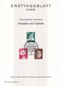 Germany Berlin ETB 6 / 1975 SC #9N363, 9N364, 9N368 Industry.