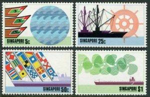 Singapore 225-228,MNH.Michel 228-231. IAPH-1974:Ships,Signal flags.