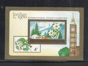 Mongolia #1105 ss comp mnh cv $2.50 Stamp Exhibitions Flower