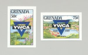Grenada #1754-1755 YWCA 2v Imperf Proofs
