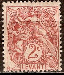 France - Offices in Turkey; 1902: Sc. # 22: */MH Single Stamp