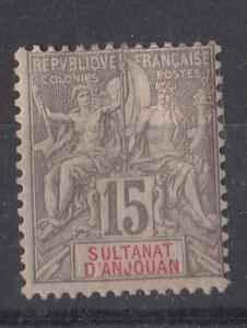 Anjouan 8 SG 15 MH F/VF 1900 SCV $27.50