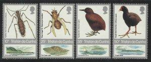 Tristan da Cunha 1987 Insects & Birds set Sc# 404-07 NH