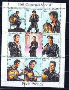 Senegal 1350 MNH 1999 Elvis Presley sheet of 9