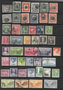 CANAL ZONE Lot of 46 Different Stamps