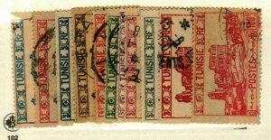 Tunisia #102B,103-4,107,110A,111,112C,113A,113C,113D used CV$5.25