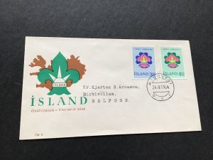 Iceland First Day of Issue 1964 Stamps Cover Ref 49993