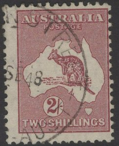 AUSTRALIA SG212 1945 2/= MAROON DIE II USED