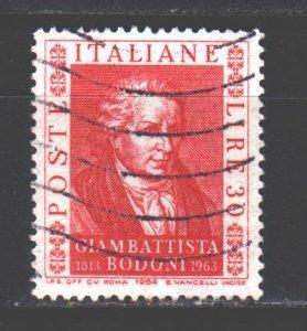 Italy. 1964. 1163. Bodoni Engraver. USED.