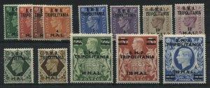 GB KGVI 1948 overprinted B. M. A. Tripoltania complete set mint o.g. hinged