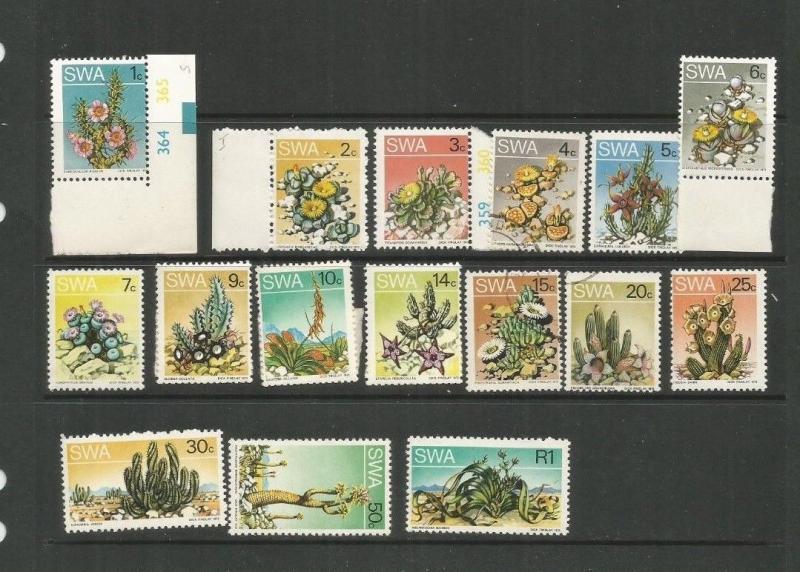 SOUTHWEST AFRICA SCOTT 343-58 MNH/USED SCV $25