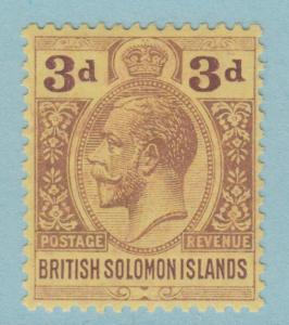 BRITISH SOLOMON ISLANDS 32 MINT HEAVY HINGED OG NO FAULTS EXTRA FINE