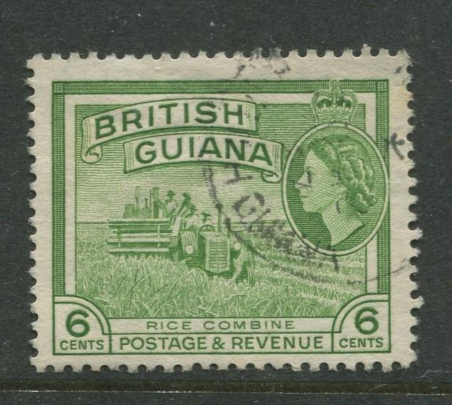 British Guiana - Scott 258 - QEII Definitive Issue -1954 - FU -Single 6c Stamp