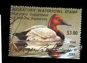 U.S. Maryland State Duck #9 Signed by artist