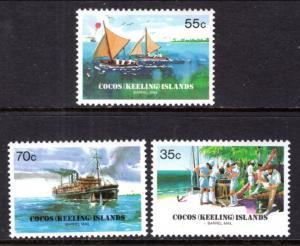 Cocos Keeling Islands 111-113 MNH VF