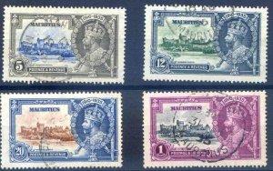 Mauritius 1935 Silver Jubilee set SG245/8 Fine Used