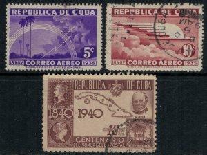 Cuba #C22-3,32  CV $4.60