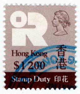 (I.B) Hong Kong Revenue : Stamp Duty $1200