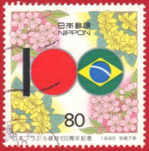 JAPAN  SC# 2455 **USED** 1995  80y    SEE SCAN