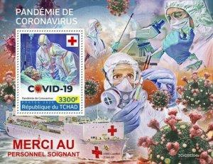 Stamps CHAD (TCHAD) / 2020 Coron. pandemic. Blok.