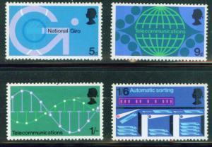 Great Britain Scott 601-604 complete 1969 stamp set MH*