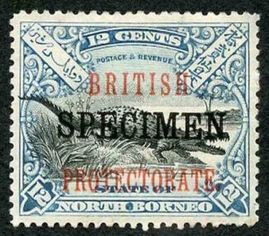 North Borneo SG135s 12c opt SPECIMEN (part gum)