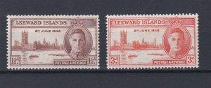 LEEWARD ISLAND 1946  VICTORY SET  MNH