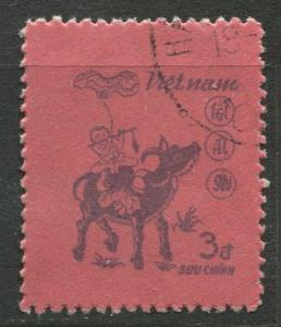 Viet Nam North - Scott 1479 - Year of Buffolo -1985 - FU -Single 5d Stamp