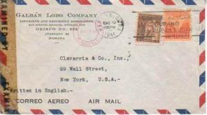 Cuba, Airmail, Censored, Meters