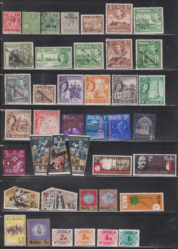 MALTA - Collection Of Mostly Used Stamps - Good Value