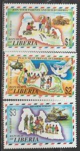Liberia  SC 1237-9  Mint Never Hinged