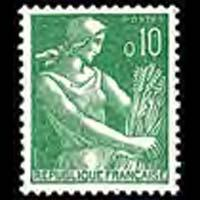 FRANCE 1960 - Scott# 939 Farm Woman 10c NH