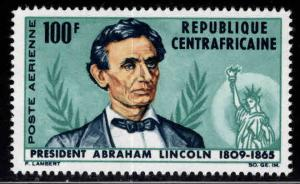 Central African Republic Scott C28 MNH** 1965 President Lincoln stamp