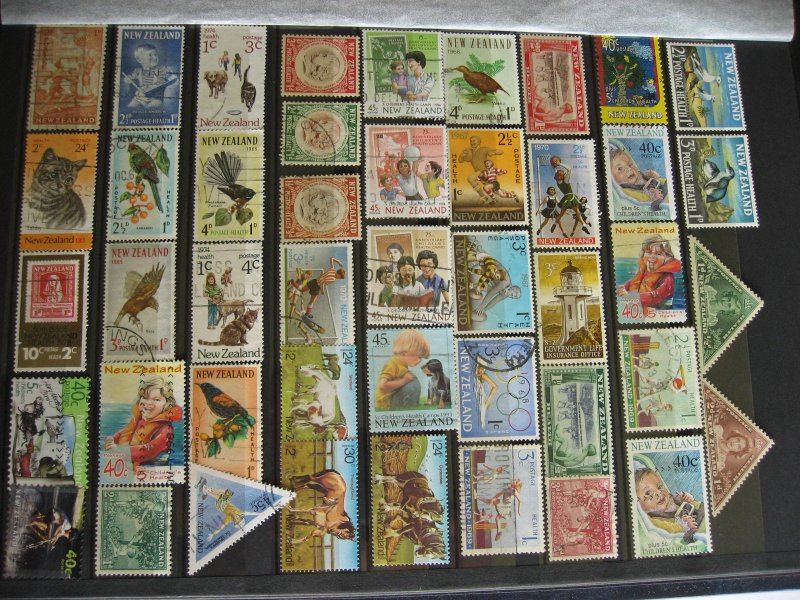 New Zealand collection to 2007 in stockbook U,MH, MNH read description