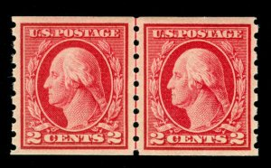 MOMEN: US STAMPS #413 LINE PAIR MINT OG NH VF/XF LOT #70396