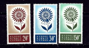 Cyprus 244-46 MNH 1964 Europa