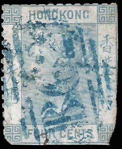 Hong Kong 1863 Sc 10a used damage