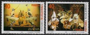 Macedonia #124-5 MNH Set - Europa - Dancers